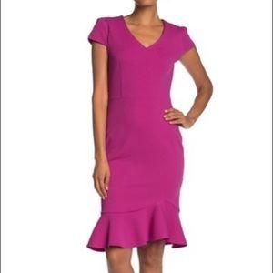 NWT Betsey Johnson Crepe Sheath Dress
